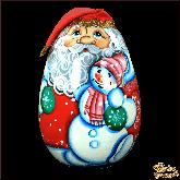 "Деревянная игрушка Неваляшка ""Дед мороз"""
