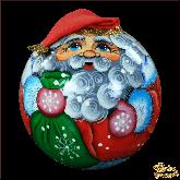 """Деревянная игрушка Неваляшка """"Дед мороз с мешком"""""""
