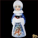"""Резная статуэтка из дерева """"Снегурочка"""""""