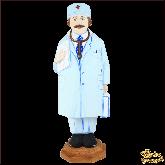 """Резная статуэтка из дерева """"Доктор"""""""