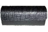 Домино профессиональное D6 в черном пенале из тесненой телячьей кожи