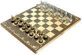 """Шахматы исторические """"Ледовое побоище"""" с фигурами из покрашенного цинкового сплава"""