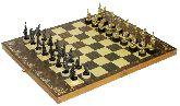 """Шахматы исторические """"Бородино"""" с фигурами из черненого цинкового сплава"""