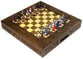 """Шахматы исторические эксклюзивные """"Ледовое побоище"""" с фигурами из олова покрашенными в полу коллекционном качестве"""