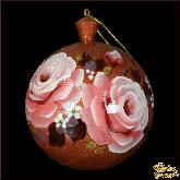 """Шар из дерева """"Розы"""" медный"""