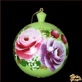 """Шар из дерева """"Розы"""" зеленый"""