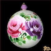 "Шар из дерева ""Розы"" белый"