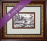 Сельский пейзаж, рамка художественный багет, 365х315