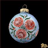 Ёлочный шар ручной работы Городецкая роспись
