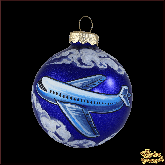 Ёлочный шар ручной работы Самолёт