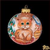 Ёлочный шар ручной работы Котёнок