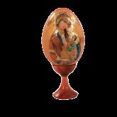 Пасхальное яйцо деревянное с наклейкой Утоли моя Печали