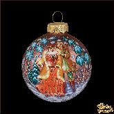 Ёлочный шар ручной работы Шубка в стиле палех