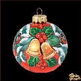 Ёлочный шар ручной работы Колокольчики