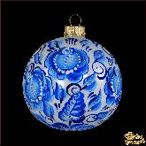 Ёлочный шар ручной работы Гжель