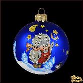 Ёлочный шар ручной работы Ёжики