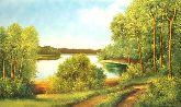 """Картина на холсте """"Дорога к озеру"""""""