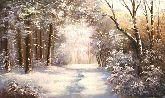 "Картина на холсте ""Морозный день"""