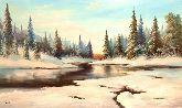 """Картина на холсте """"На исходе зимы"""""""