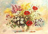"""Картина на холсте """"Луговые цветы"""""""