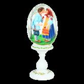 Пасхальное яйцо деревянное с ручной росписью Христос Воскресе!