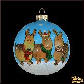 Ёлочный шар ручной работы Новогодние олени
