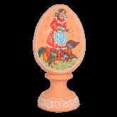 Пасхальное яйцо деревянное с ручной росписью Утро