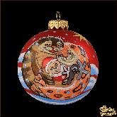 Ёлочный шар ручной работы Тюлени