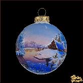 Ёлочный шар ручной работы Зимняя пора