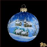 Ёлочный шар ручной работы Зимний вечер
