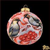 Ёлочный шар ручной работы Зимняя рябина