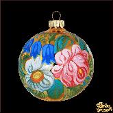 Ёлочный шар ручной работы Жостово колокольчики
