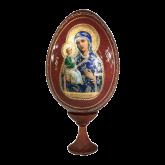 Пасхальное яйцо деревянное с наклейкой  Иерусалимская
