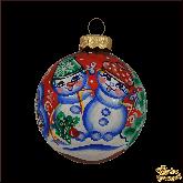 Ёлочный шар ручной работы Снеговички
