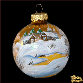Ёлочный шар ручной работы 80 мм Золотой рассвет