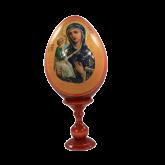 Пасхальное яйцо деревянное с наклейкой Иерусалимская Божья Матерь