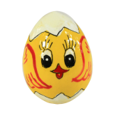 Пасхальное яйцо деревянное с ручной росписью Цыпленок