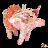Авторская ёлочная игрушка ручной работы Свинья в пачке