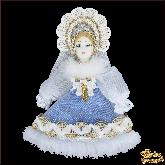 Авторская ёлочная игрушка ручной работы Снегурочка
