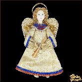 Авторская ёлочная игрушка ручной работы Ангел (сер)