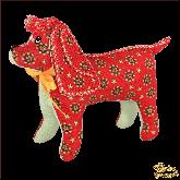 Авторская ёлочная игрушка ручной работы Собака