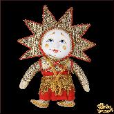 Авторская ёлочная игрушка ручной работы Солнце