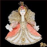 Авторская ёлочная игрушка ручной работы Фея (роз)