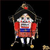 Авторская ёлочная игрушка ручной работы Щелкунчик большой (красн)