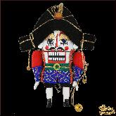 Авторская ёлочная игрушка ручной работы Щелкунчик большой (син)