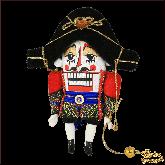 Авторская ёлочная игрушка ручной работы Щелкунчик большой (черный)