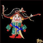 Авторская ёлочная игрушка ручной работы Щелкунчик малый (красн)