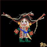Авторская ёлочная игрушка ручной работы Щелкунчик средний (зелёный)