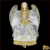 Авторская ёлочная игрушка ручной работы Ангел (кружевной)