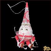 Авторская ёлочная игрушка ручной работы Яйцо пасхальное